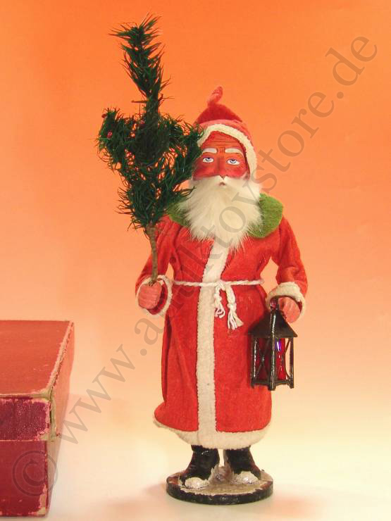 antique Santa Claus Candybox in the box