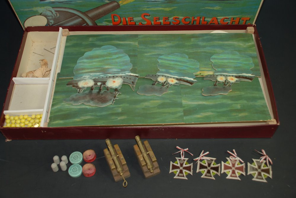 antique children's game * the naval battle - shooting game ...